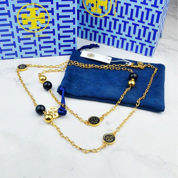 Tory Burch Jewelry - Tory Burch Black Multi Pendant Necklace
